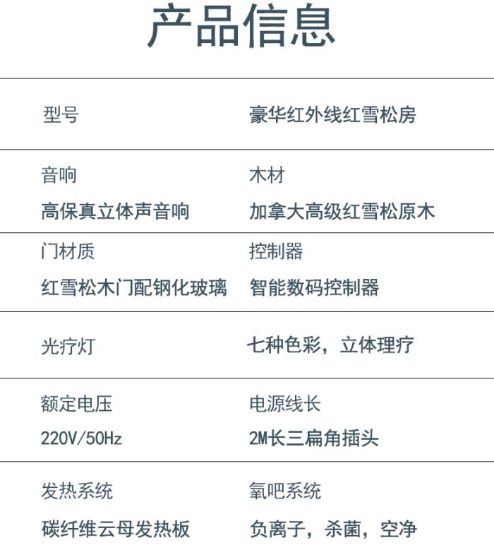 移动汗蒸房信息配置表